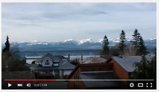 South view from the townhouses at 1653 Comox Ave Comox